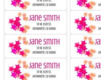 Star Address Labels-Personalized Return Labels-Personalized Address Labels-Star Stickers-Star Return Stickers-Star Return Stickers-Stars