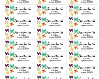 Butterfly Address Label-Butterfly Return Label-Printable Address Label-Printable Return Label-Butterfly Label-Butterfly Stickers-Personalize