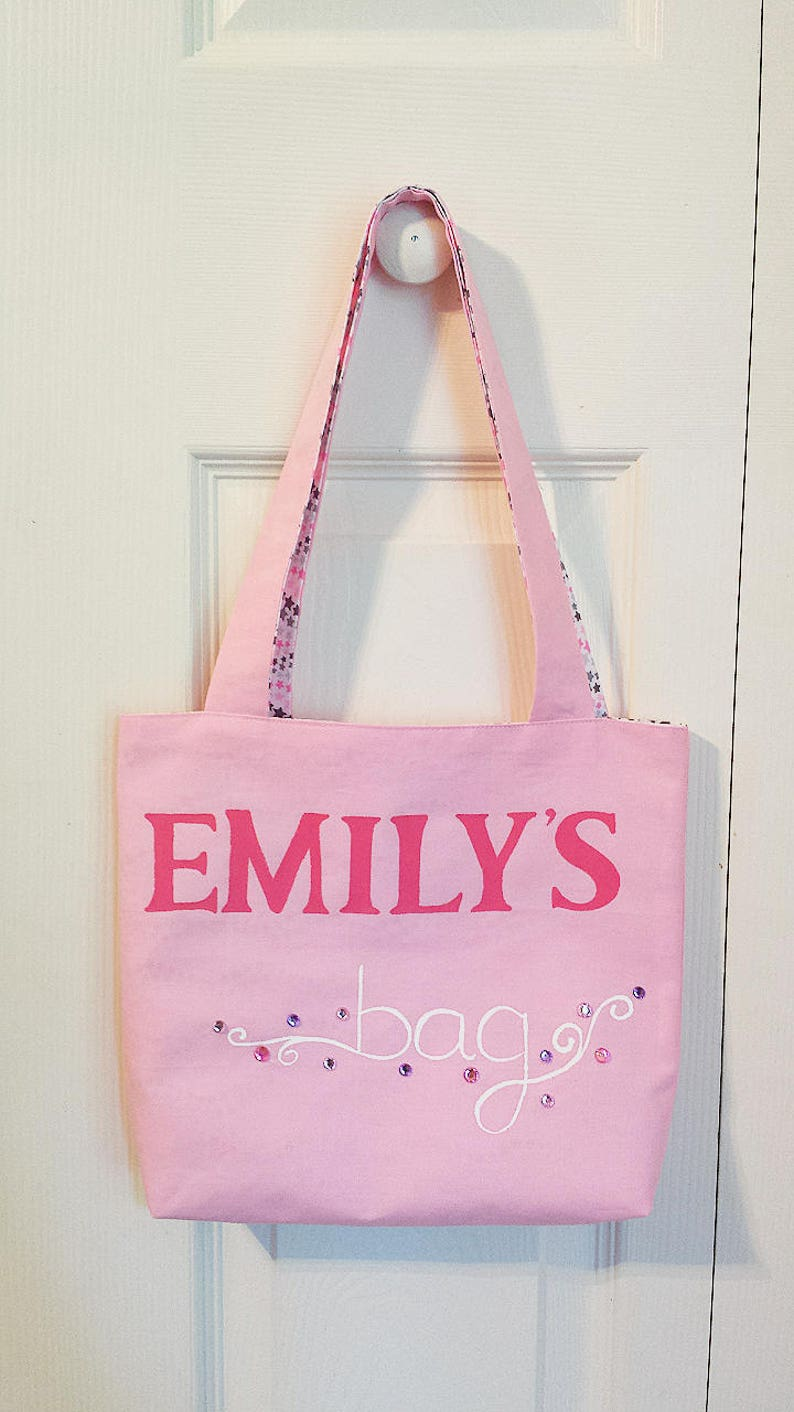 806d963846df Personalized Tote Bag Name bag Kids Tote Bag Gift for her