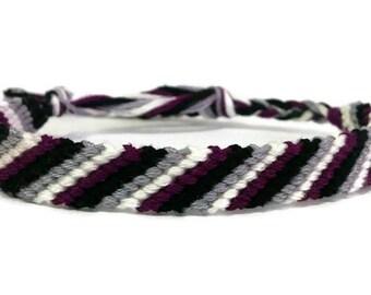 Ace Pride Stripe Friendship Bracelet