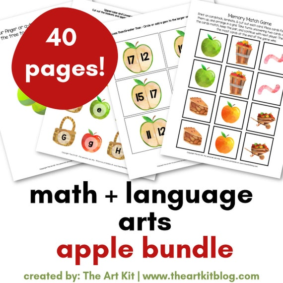 Apple Bundle for Fall: Math Numbers Language Spelling