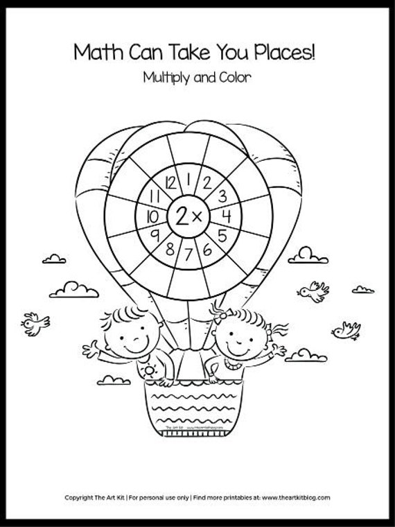 Multiplication Coloring Pages Worksheets 0-12 Waldorf Etsy