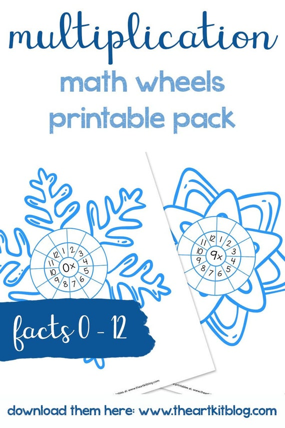 Multiplication Winter Snowflake Activity Sheets 0 to 10