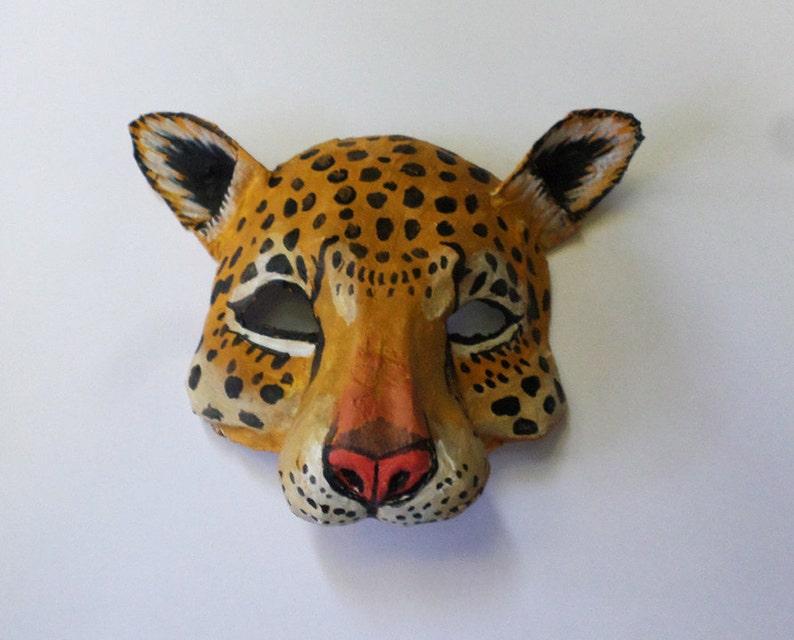 a6c49d1504e Jaguar Mask wild cat unique animal mask paper mache