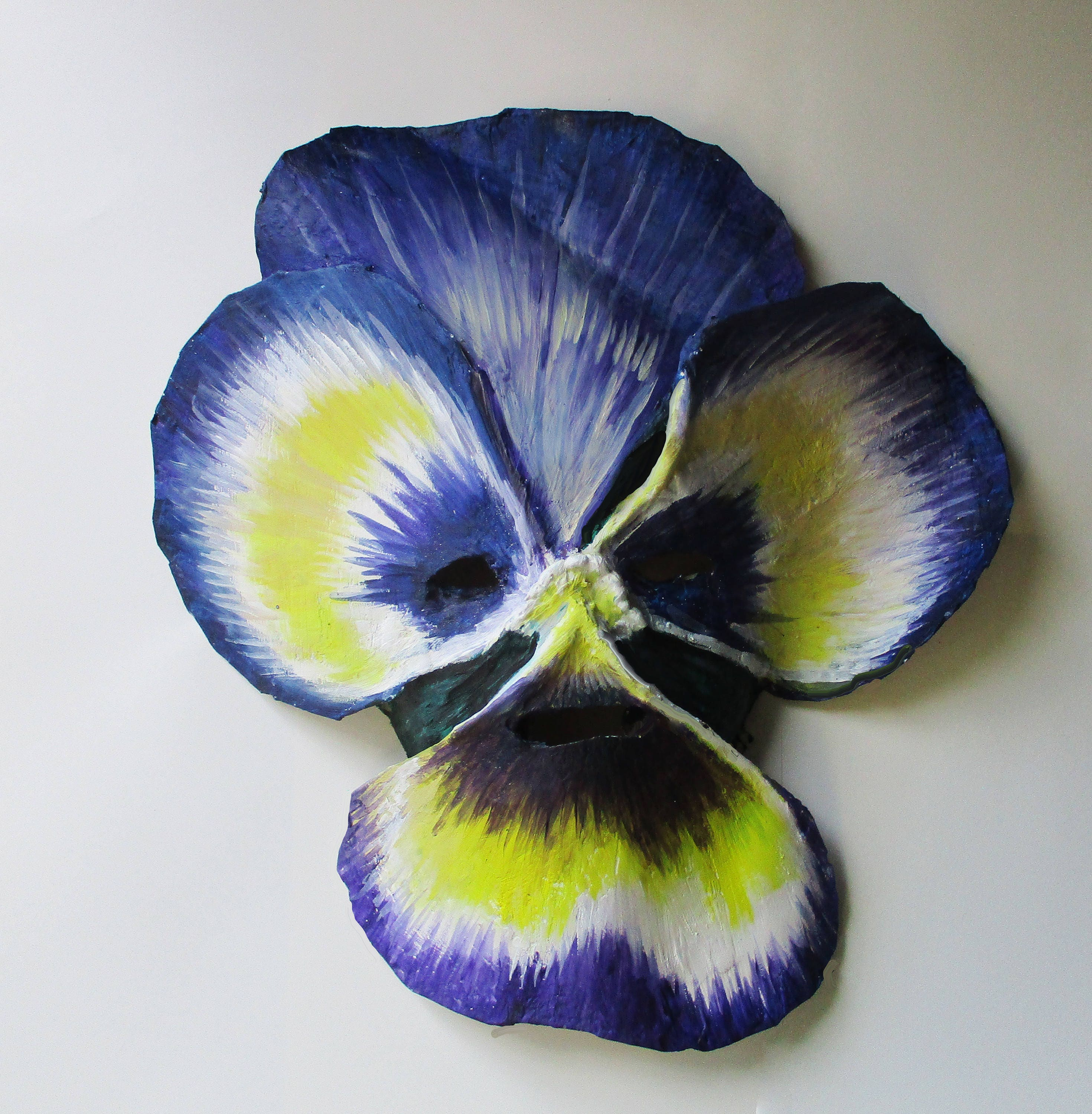 Pansy Flower Mask Wearable Paper Mache Plant Mask Etsy