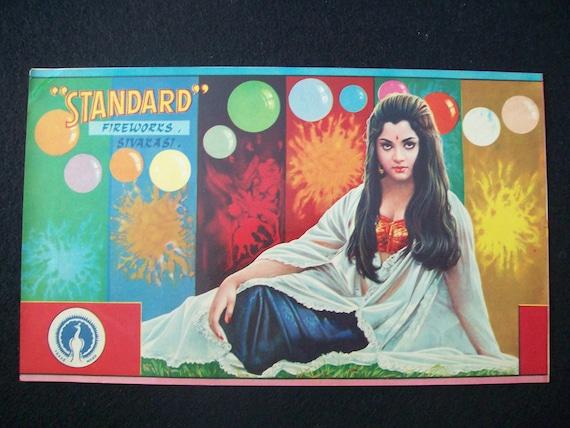 Standard Fireworks Label Sivakasi Very Old