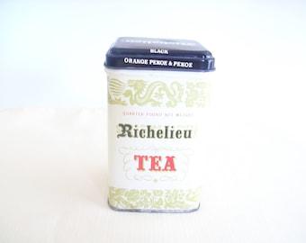Richelieu Orange Pekoe Tea Tin. Empty. Vintage