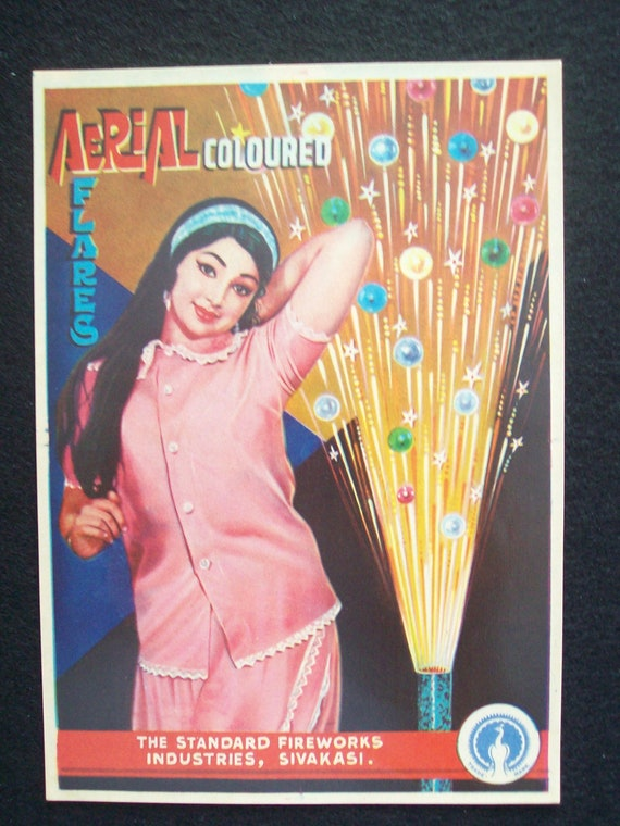 Standard Fireworks Label Aerial Colored Flares Sivakasi