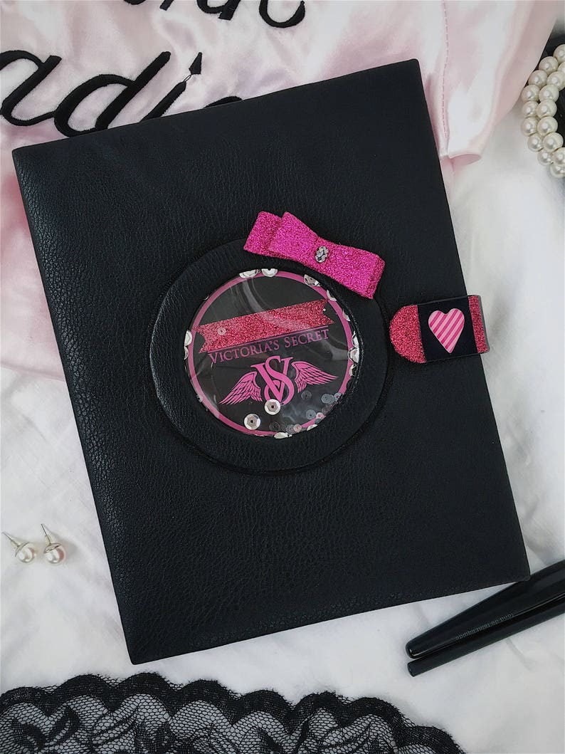 4491cbc3f2332 A5 Daily planner 2018 handmade, Cover Victoria's Secret style, undating  pages, Printable inserts, binder planner, Black and Pink cover