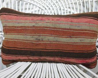 18x18 kilim pillow faded pillow bed pillow indoor pillow flat woven sham turkish pillows kilim pillows cushion case throw pillow SP4545-2403