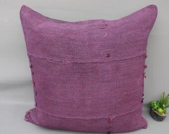 Throw Pillow,Big Size Kilim Pillow 32x32 Pillow Cover,Turkish Decor Pillow,Organic Pillow,Vivid Color,Solid Red Pillow,Hemp Pillow296