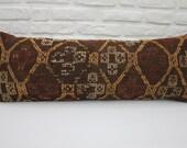 16x42 pillow cover embroidered kilim pillow geometric kilim pillow 40x107 cm bench pillow vintage kilim pillow boho pillow throw pillow 530