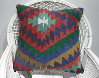 red crochet kilim pastel decorative pillows kilim pillow 24x24accent pillows wool crochet cushion 24x24 bright kilim pillow cover 1065