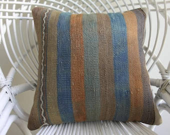 16x16 striped pillow striped kilim pillow cover striped kilim pillow 2003