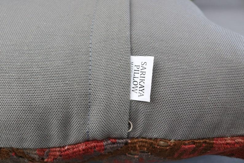 Brown Pillow 8204 Throw Pillow Turkish Pillow Home Decor Pillow Aztec Pillow Pillow Cover 16x16 Natural Kilim Pillow Vintage Pillow