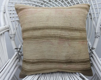 20x20 pillows, striped kilim pillow, handmade pillow ,both sided, 20x20 pillow cover,both sides, two sided, shabby chic,throw pillows,  19