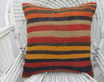 20x20 home decor pillow, throw pillows, wool pillow, kilim pillows,both sided, outdoor pillow, two sided, turkish pillow,both sides,  44