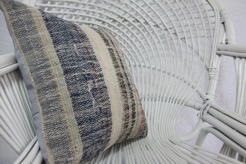 Decorative Turkish Kilim Pillow 16x16 Striped Kilim Pillow Turkey kilim pillow Floor Pillow Kilim Pillow home decor Throw Pillow 1138