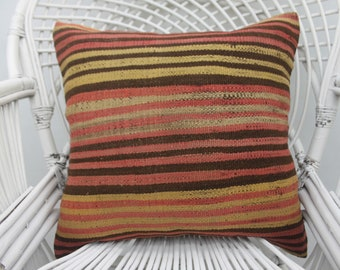 20x20 multicolored pillow, throw pillow ,two sided, handmade pillow boho pillow sofa pillow,kilim pillows 20x20 pillow cover both sided, 32