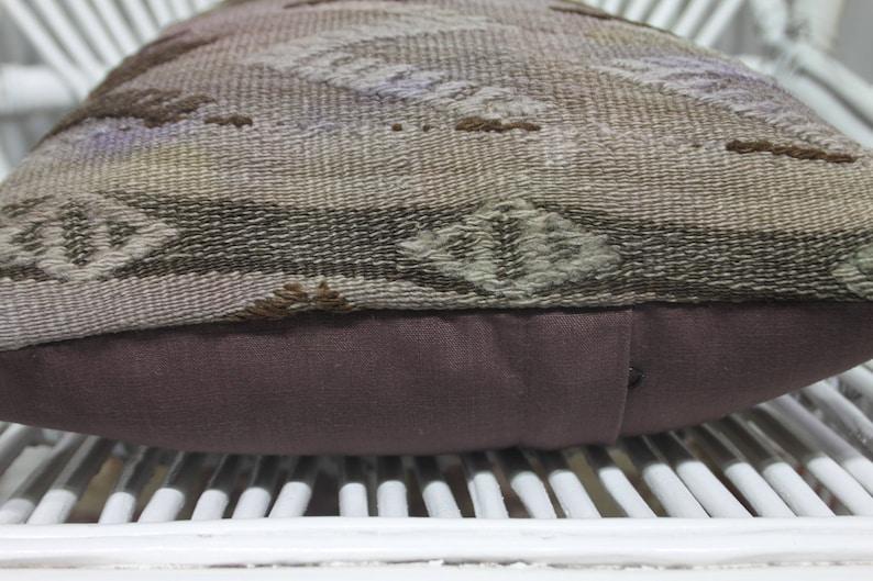 Vintage Embroidered Kilim Pillow Lumbar Kilim Pillow Turkey Kilim Cushion Cover 12x20-30x50  1361 Pastel Color Decorative Pillows