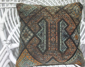 "Embroidered Motifs Kilim Pillow Pastel Kilim Pillow Cover 16"" x 16"" Home Decor Cushion Covers Turkey Kilim Pillows Decorative Pillows 3763"