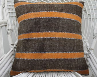 20x20 striped kilim pillow boho pillow indoor pillow home decor pillow handmade pillow throw pillow 20x20 pillow cover indoor pillow 2576
