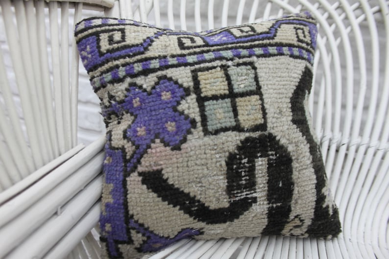 Multicolor Pillow 890 Embroidered Pillow Throw Pillow Antique Pillow Decorative Pillow 12x12 Rug Pillow Handmade Pillow Cushion Case