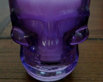 Purple Skull Shot Glass Soy Candle