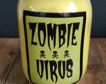 Zombie Virus Soy Candle in Lemon Pound Cake scent