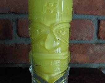 Tiki Candle- Tiki Pillar Candle- Tiki Bar Decor- Luau Candle- Hawaiian Theme - Hi Ball Glass- Beach Candle