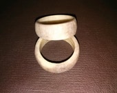 deer antler ring, whitetail horn ring, real horn, hand crafted, a perfect gift for dad or the outdoorsman in your family, outdoor, wearable