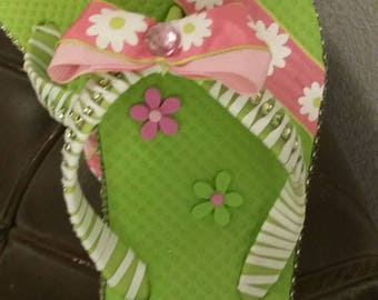 Custom made little girl flip flop