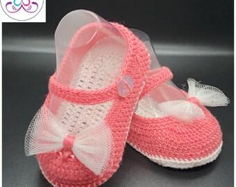 f1494724b2408 Baby boys shoes handmade crochet shoes NEWBORN red christmas | Etsy