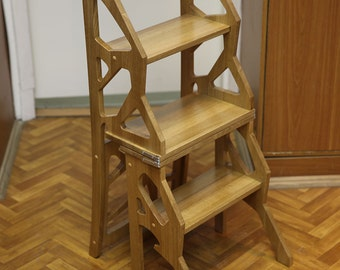Step Stool Chair Etsy