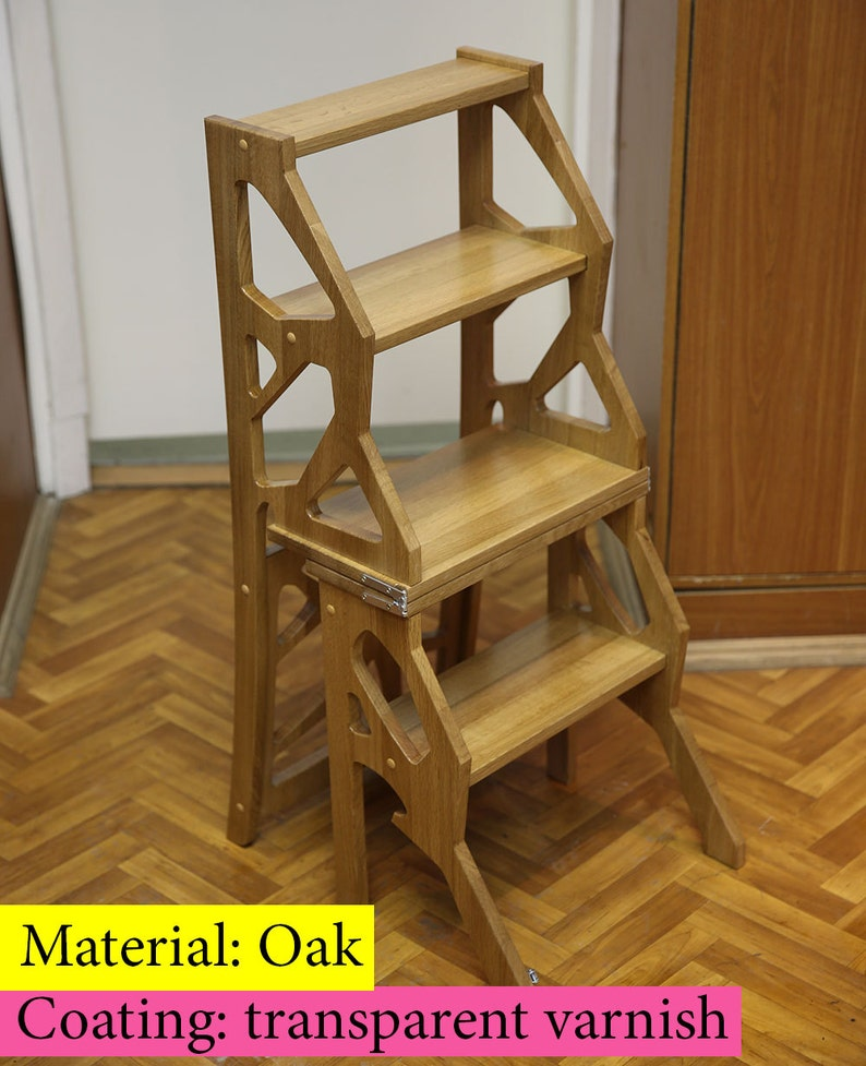 Step Stool Chair Chair Ladder Step Ladder Foot Stool Etsy