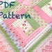 Freda Keith reviewed Log Cabin Baby Quilt Pattern - Modern Baby Girl Quilt Pattern, Cottage Chic Baby Quilt Pattern, Baby Quilt Pattern, PDF Pattern - Quilt