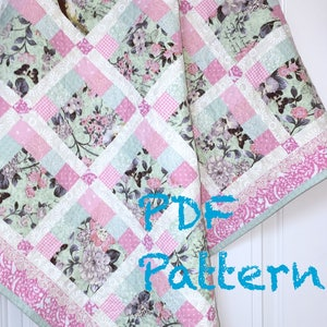 Temple Of Asiaq Log Cabin Baby Girl Modern Quilt Blanket