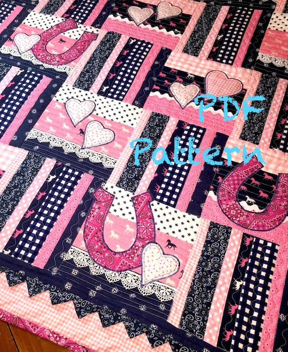 Western Baby Quilt Pattern Cowgirl Quilt Pattern Baby Girl Etsy New Western Quilt Patterns