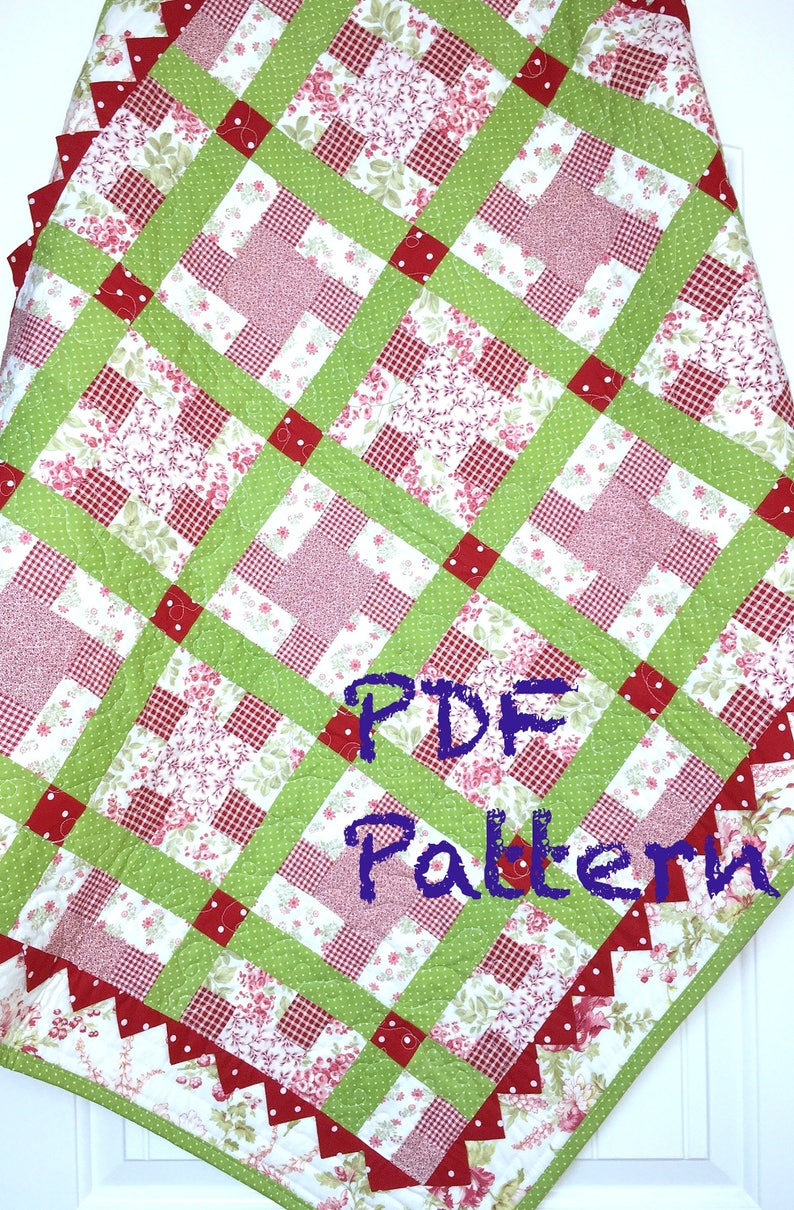 Picnic Baby Quilt Pattern 2 Size Tutorial Baby Quilt Sofa Etsy