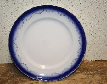 Vintage Blue Plate