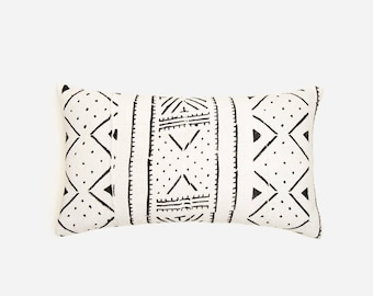 African Tribal Mudcloth No.2 Pillow Cover | Various Sizes