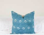 "Spotted Batik Indigo  Pillow Cover | 18"" x 18"""