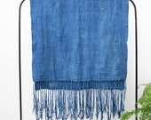 Indigo Fringe Throw