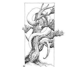Fine Art Print / Folklore and Fairytales / Fantasy Artwork: Lindworm