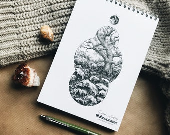 Art Supply / A5 Sketchbook & Pen Bundle / Ballograf / Custom by Sophy