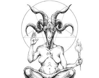 Fine Art Print / Inktober 2017 / Tarot Art: The Devil