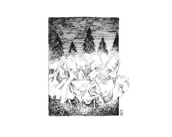 Fine Art Print / Folklore and Fairytales / Fantasy Artwork: Fairy