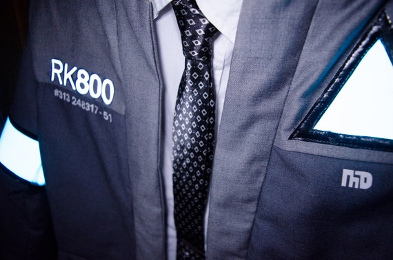 Detroit Become Human Connor Rk800 Cosplay Tie Etsy