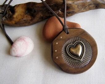 """Handmade aus Holz Halskette """"For You"""""""
