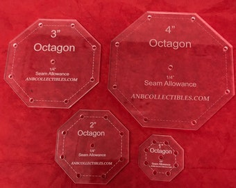 Octagon Template | Octagon Template Etsy
